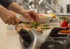 Verse Salade in Keuken stock foto
