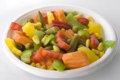 Verse salade. Mengeling Royalty-vrije Stock Foto's