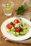 Verse salade met avocado, tomaat en kaas Royalty-vrije Stock Afbeelding
