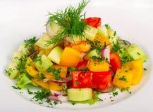Verse salade met groenten Stock Foto's