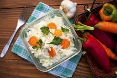 Verse salade met groenten Royalty-vrije Stock Foto