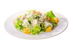 Verse salade met saus Stock Fotografie