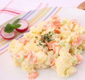 Verse salade van aardappels Stock Fotografie