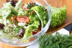 Verse saladegreens Stock Foto