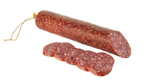 Verse salami Royalty-vrije Stock Afbeelding