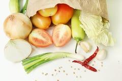 Verse samen gemengde groenten Royalty-vrije Stock Foto's