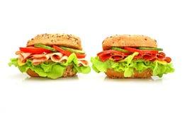 Verse sandwich met groenten Royalty-vrije Stock Afbeelding