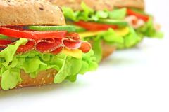 Verse sandwich met groenten Stock Foto