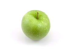 Verse sappige groene appel met waterdalingen Stock Foto's
