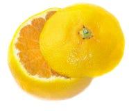 Verse sappige mandarijn Royalty-vrije Stock Afbeeldingen