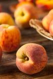Verse Sappige Organische Gele Perziken Stock Afbeeldingen