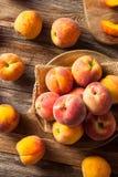 Verse Sappige Organische Gele Perziken Royalty-vrije Stock Afbeeldingen