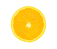 Verse sinaasappel die op witte achtergrond wordt geïsoleerdo Royalty-vrije Stock Foto