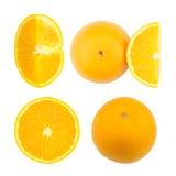 Verse sinaasappel die op witte achtergrond wordt geïsoleerdo Stock Afbeelding