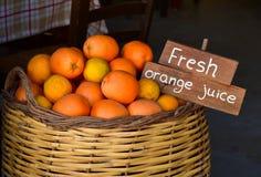 Verse sinaasappel voor sap Stock Afbeeldingen