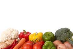 Verse Smakelijke Groenten die op Wit worden geïsoleerd Stock Foto's
