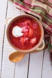 Verse smakelijke groentesoep Royalty-vrije Stock Afbeeldingen