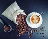Verse smakelijke koffie Stock Foto's