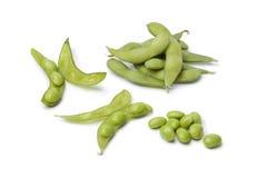 Verse sojabonen en peulen Royalty-vrije Stock Afbeeldingen