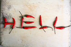 Verse Spaanse peper roodgloeiende ingrediënten Stock Fotografie