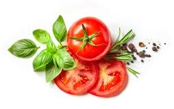 Verse tomaat, kruiden en kruiden royalty-vrije stock fotografie