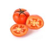 Verse tomaten op witte achtergrond Royalty-vrije Stock Foto