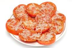Verse tomatensalade Royalty-vrije Stock Foto's