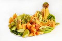 Verse tropische vruchten in studio Stock Afbeeldingen