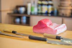 Verse Tuna Ingredient voor sushi Stock Afbeelding