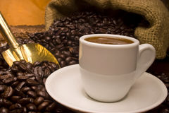 Verse Turkse koffie. Stock Foto