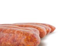 Verse varkensvleesworsten royalty-vrije stock afbeelding