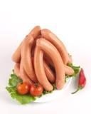 Verse varkensvleesworsten Stock Foto's