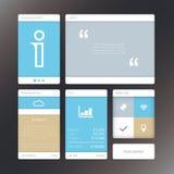Verse vectorillustratie minimale infographic vlakte Stock Foto's