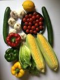 Verse Veggies Gezond voedsel royalty-vrije stock foto's