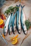 Verse vissen op lijst Royalty-vrije Stock Afbeeldingen