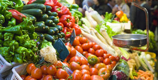 Verse voedselmarkt Royalty-vrije Stock Afbeelding