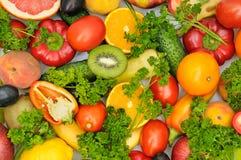 Verse vruchten en groenten Royalty-vrije Stock Foto's