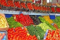 Verse Vruchten en Groenten in de markt Royalty-vrije Stock Foto