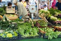 Verse vruchten en groenten voor verkoop in Campo DE Fiori, Royalty-vrije Stock Foto's
