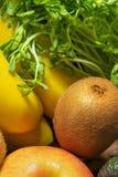Verse vruchten en groentenclose-up royalty-vrije stock afbeeldingen