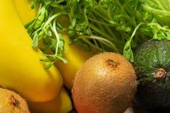 Verse vruchten en groentenclose-up stock afbeelding