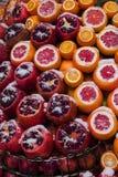 Verse vruchten en sneeuw Stock Afbeelding