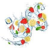 Verse vruchten in waterplons Royalty-vrije Stock Afbeelding