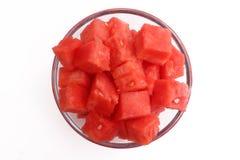 Verse Watermeloen op Witte Achtergrond Stock Fotografie