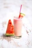 Verse watermeloen Smoothie Stock Afbeeldingen