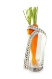 Verse wortelen in glas Stock Foto's