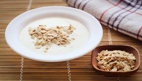 Verse yoghurt royalty-vrije stock afbeeldingen