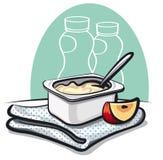 Verse yoghurt Stock Afbeelding