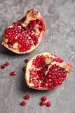Verse yummy granaatappel royalty-vrije stock fotografie