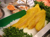Verse zeevruchten op markt in Scotlands Royalty-vrije Stock Fotografie